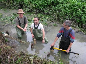 River restoration workshop - Storrington Meadows chalk stream